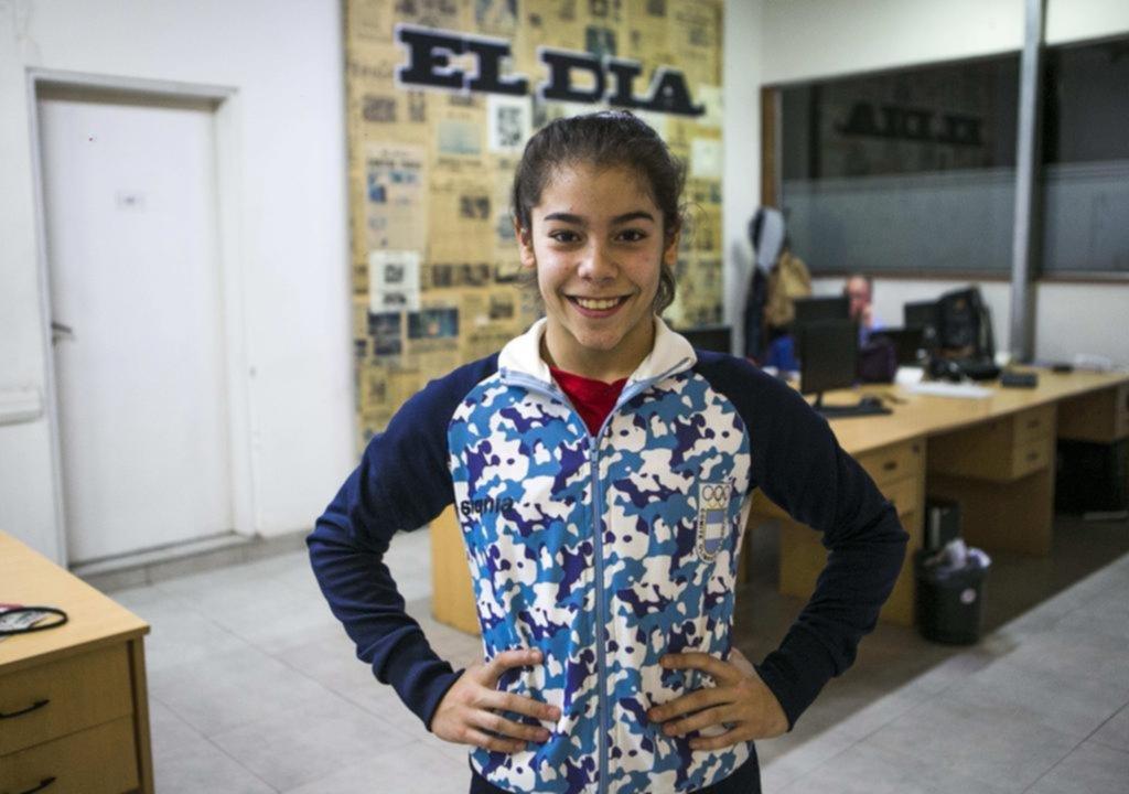 La gimnasta platense Abigail Magistrati estará en el Mundial