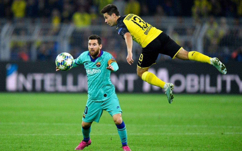Con Messi desde el segundo tiempo, Barcelona empató con el Dortmund