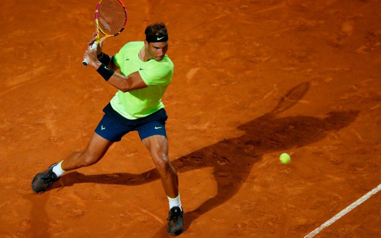 Rafael Nadal ganó en su debut en Roma tras una inactividad de seis meses y medio