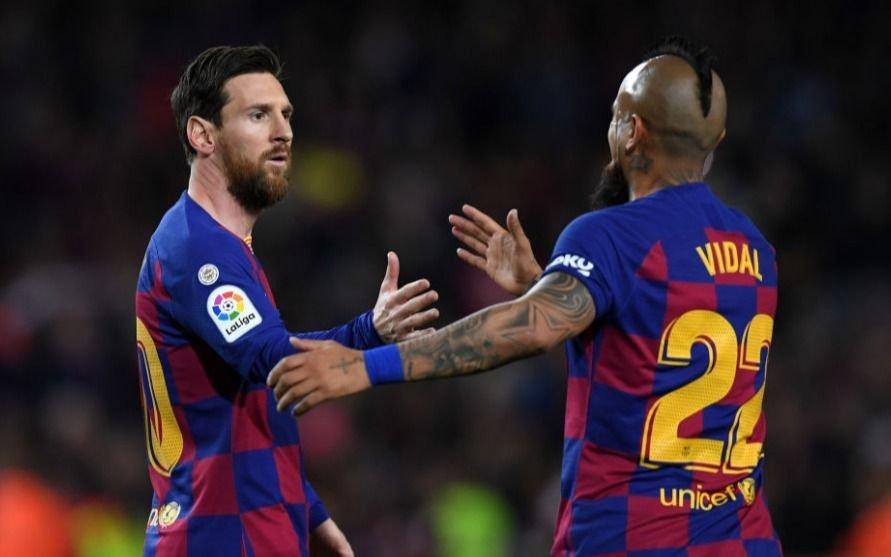 Messi despidió a Vidal con un mensaje lleno de emoción