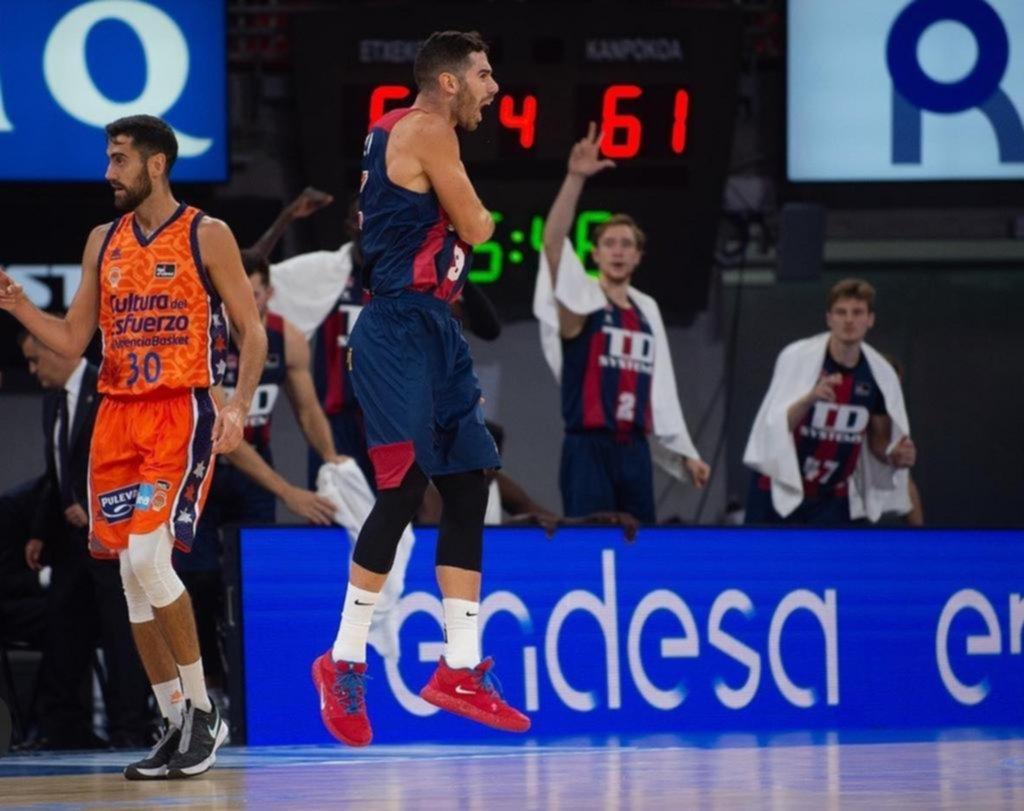 Luca Vildoza le dio el triunfo al Baskonia en el inicio de la Liga ACB de España
