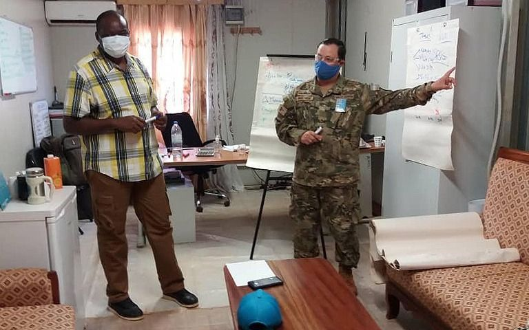El platense que participa en una misión de paz en la República Centroáfrica