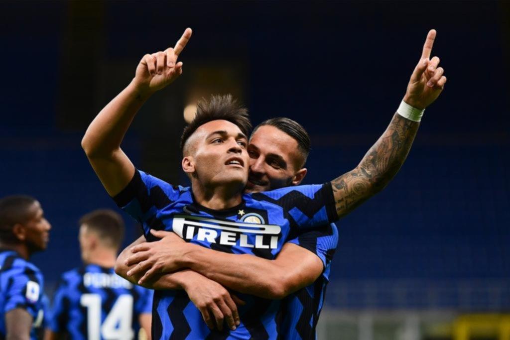 Con uno de Lautaro, Inter ganó sobre el final