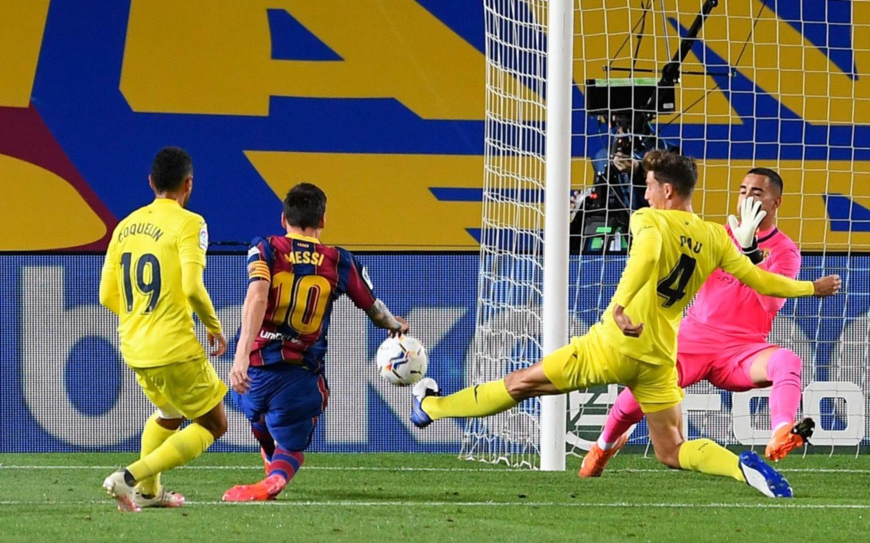 Barcelona, con un gol de Messi en su regreso, goleó a Villarreal