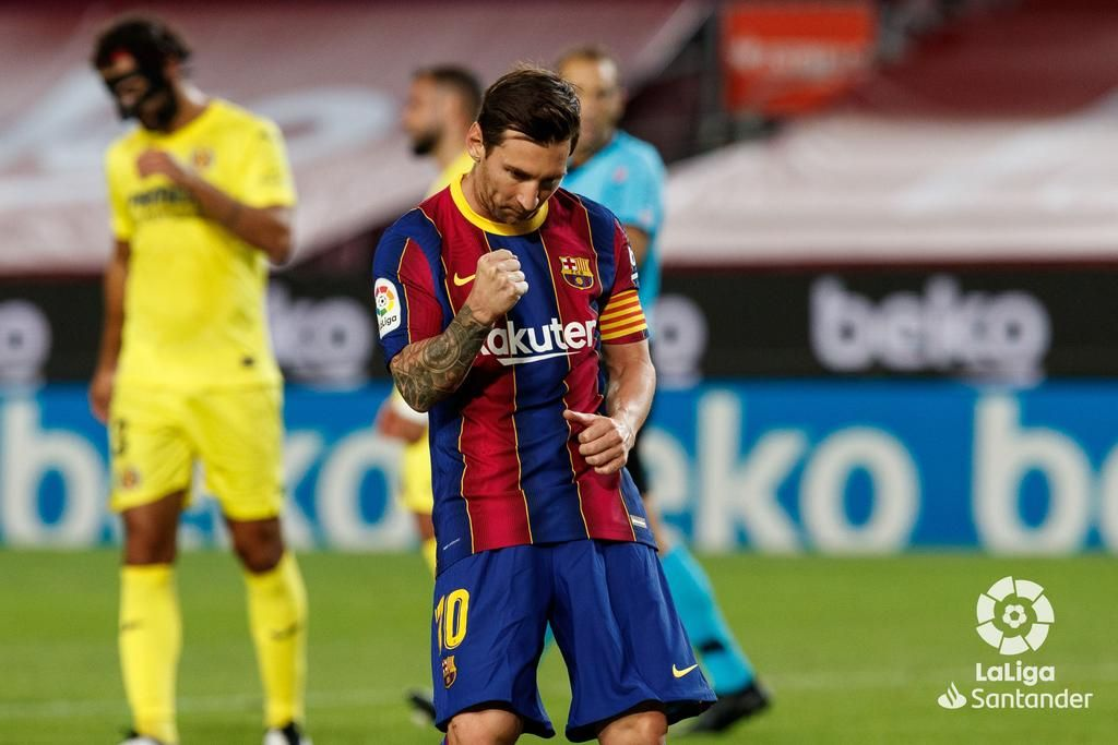 Lionel Messi jugó de falso '9' y el Barcelona no dependió de él