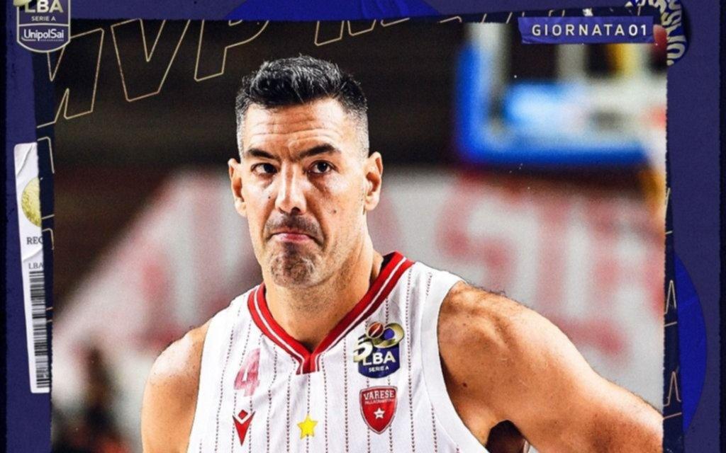 """Scola sigue """"soplando"""" y fue elegido como MVP en Italia"""