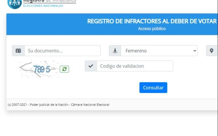 """El """"Registro de infractores"""" para quienes no votaron en las PASO: cómo pagar las multas"""