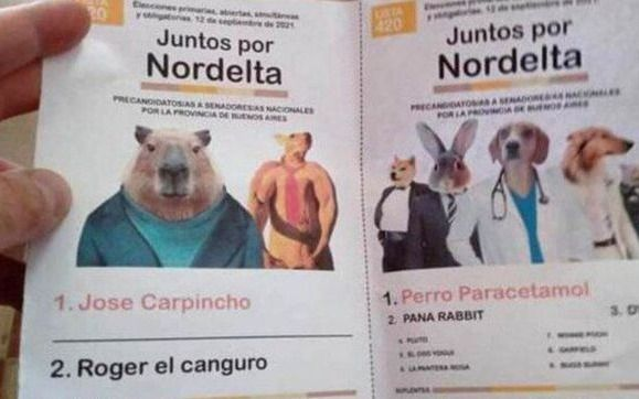 El pueblo votó: la boleta de los carpinchos le ganó a Guillermo Moreno y Cinthia Fernández