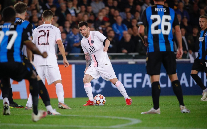Leo Messi se estrenó en Champions en un opaco 1-1 del PSG ante Brujas
