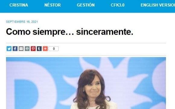 """Como siempre… sinceramente"": la carta completa de Cristina Kirchner"