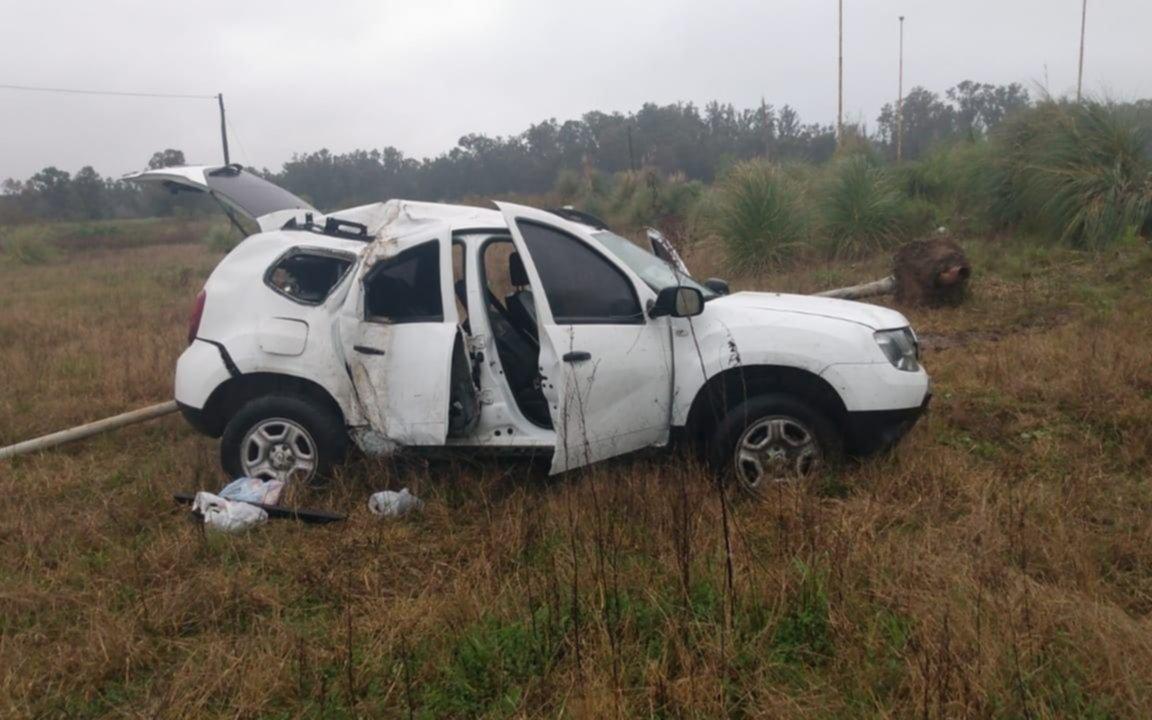 Tragedia al volante: murió tras despistar e impactar contra una columna de alumbrado en la Ruta 215
