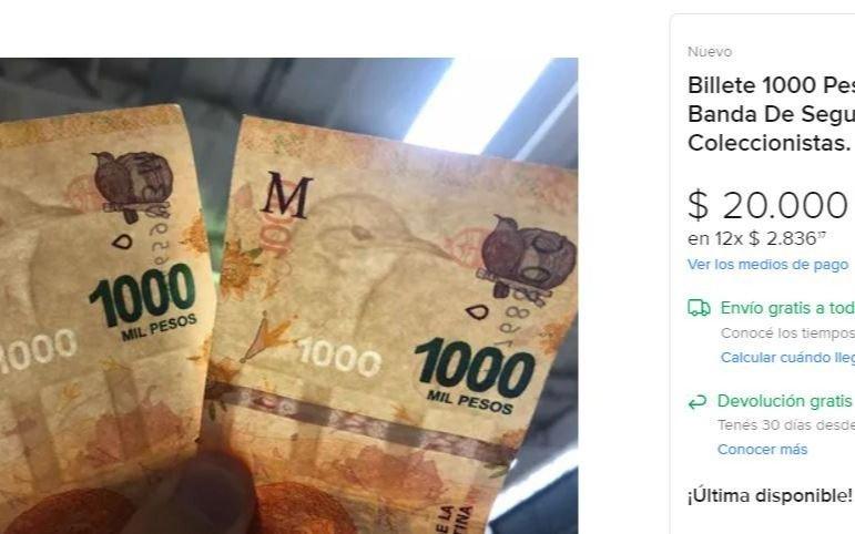 Cuál es la rareza por la que ahora piden hasta 20 veces más por billetes de $1.000