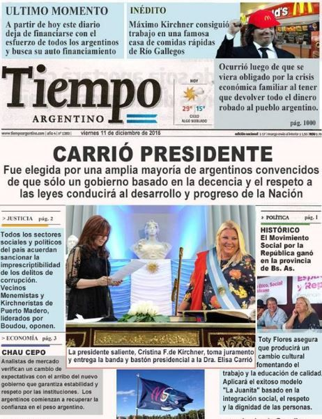 """Carrió Presidente"""