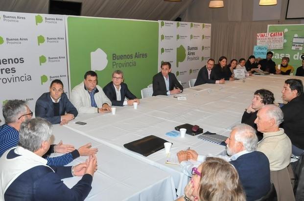 Reunión de Garro y Vidal con asambleas y familiares de víctimas de la inundación