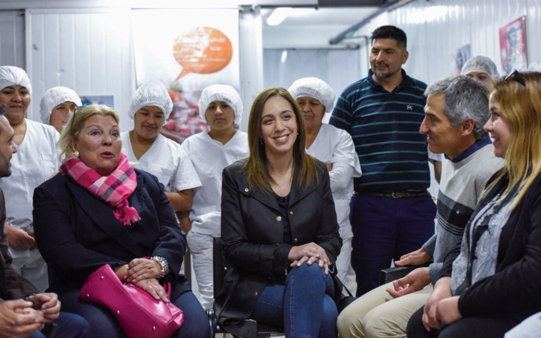 Vidal, Carrió, Ocaña y Toty Flores en una Pyme en Pilar