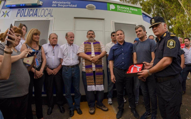 Zabaleta inauguró la sexta posta policial, ubicada en el límite con Ituzaingó