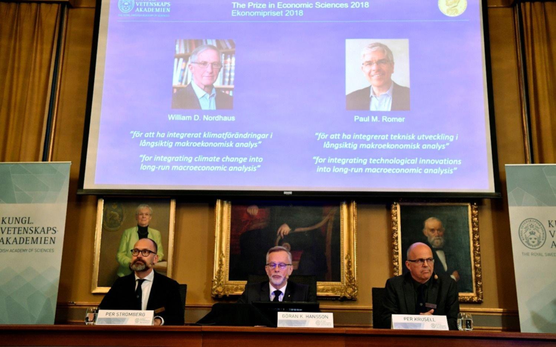 William Nordhaus y Paul Romer ganan el Premio Nobel de Economía