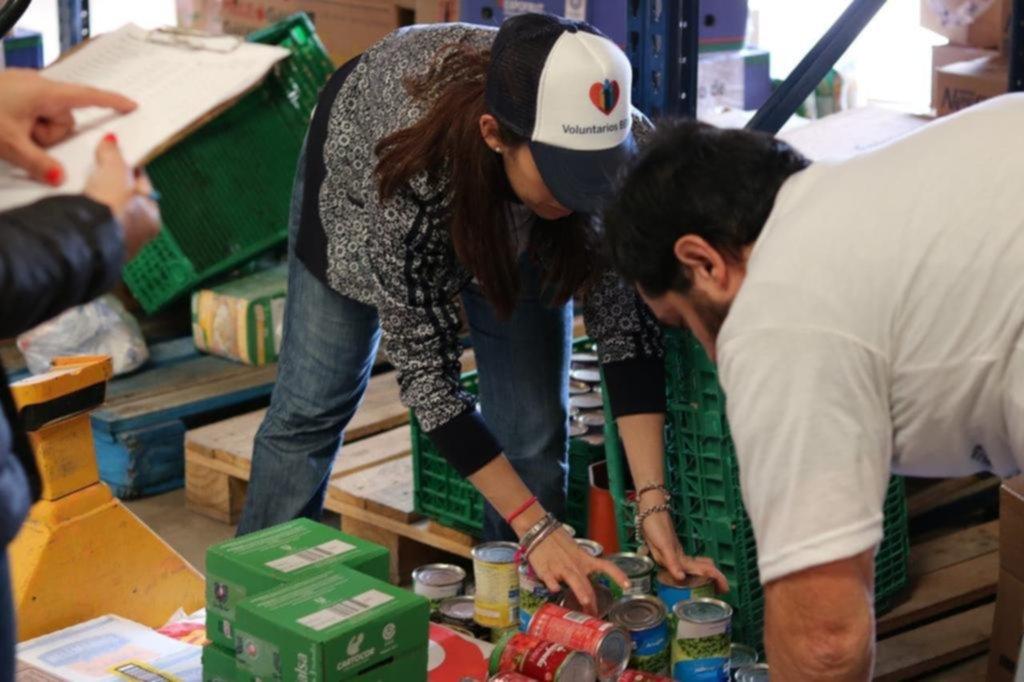 Por la crisis, aumenta la demanda al Banco Alimentario local que ayuda a instituciones
