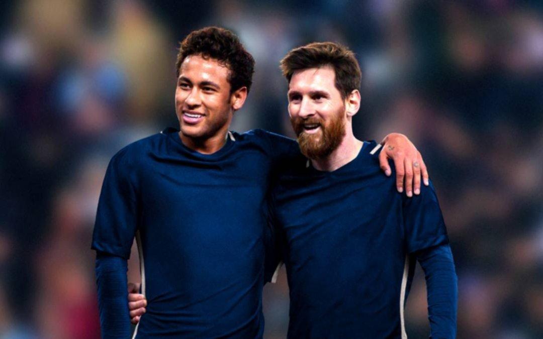 """""""Es una pena para el fútbol"""" dijo Neymar sobre la ausencia de Messi en la Selección"""