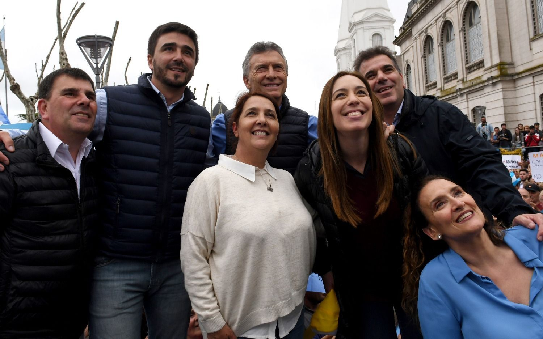 """Macri con Vidal en Olavarría:"""" no puede haber doble discurso o doble moral con el narcotráfico"""""""