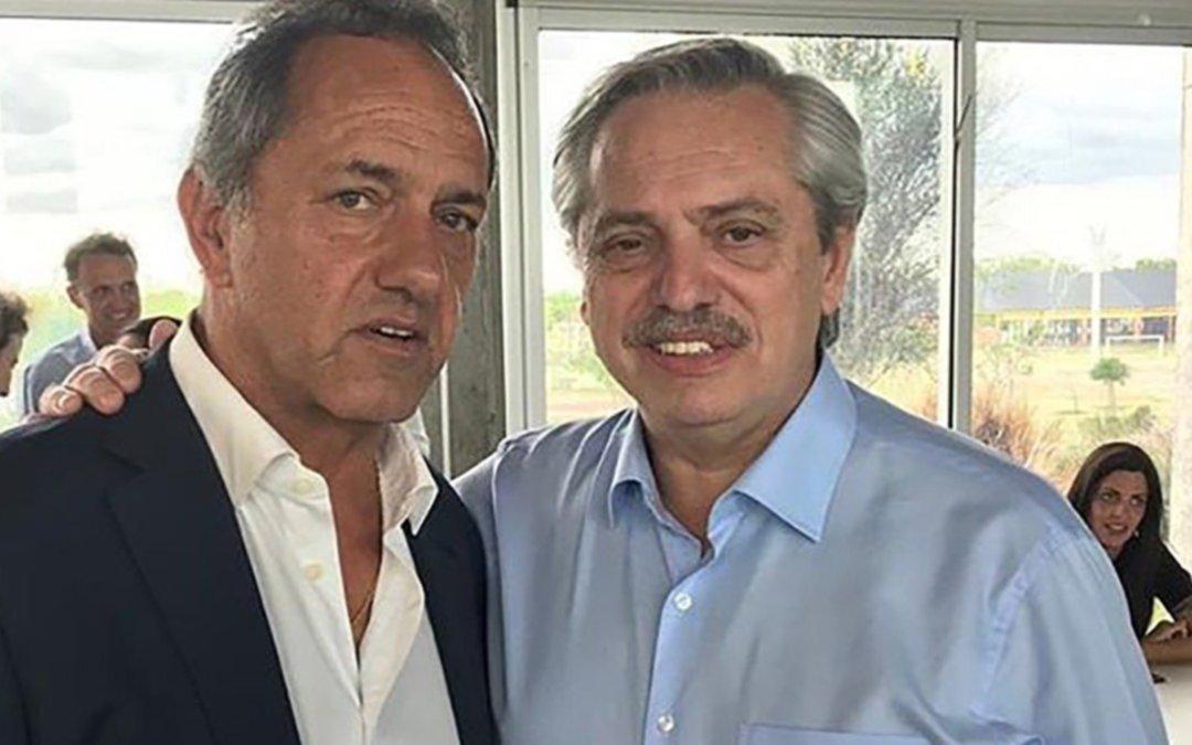 En la antesala del debate, Alberto Fernández integró a Scioli al equipoque lo acompaña