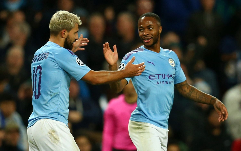 Agüero hizo dos goles en el aplastante triunfo de Manchester City sobre Atalanta