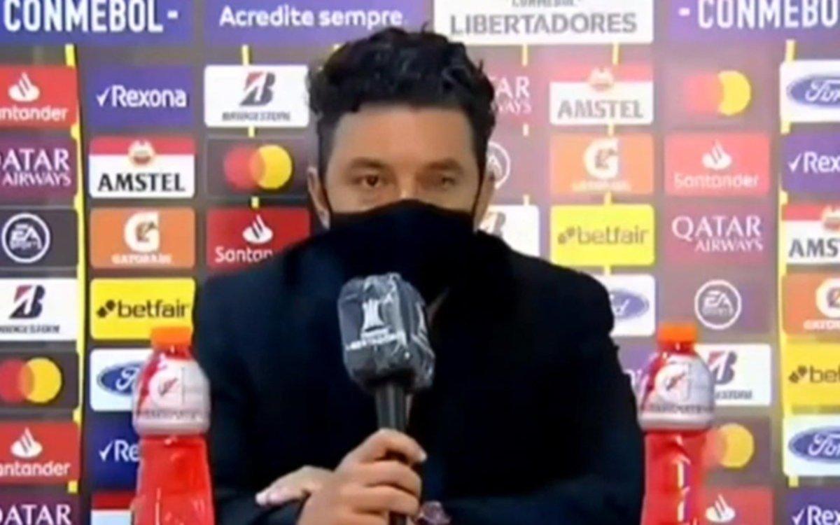 Otra vez Marcelo Gallardo muy enojado en la conferencia de prensa