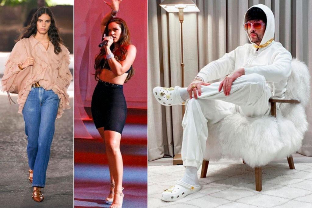 """De los Levi's de Valentino a los """"crocs"""" de Bad Bunny, alianzas del mundo fashion"""