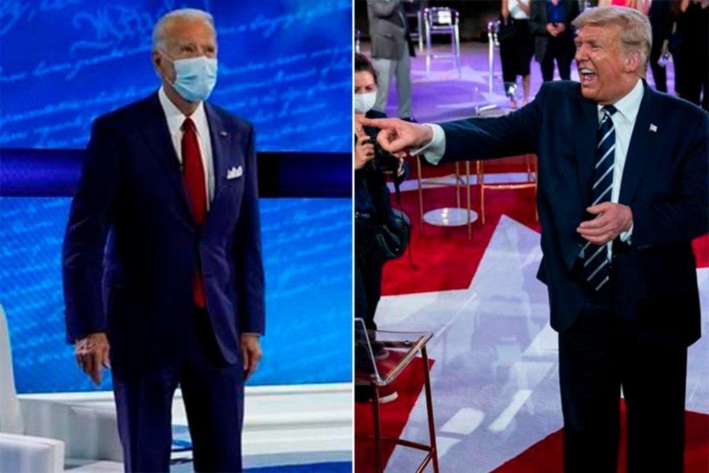 Trump y Biden se midieron en un duelo a distancia por TV