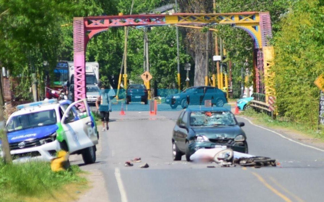 Tránsito fatal en La Plata: murió un motociclista tras un choque en Camino Belgrano