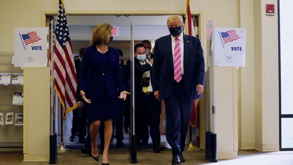 Trump votó en la Florida y criticó el sufragio por correo