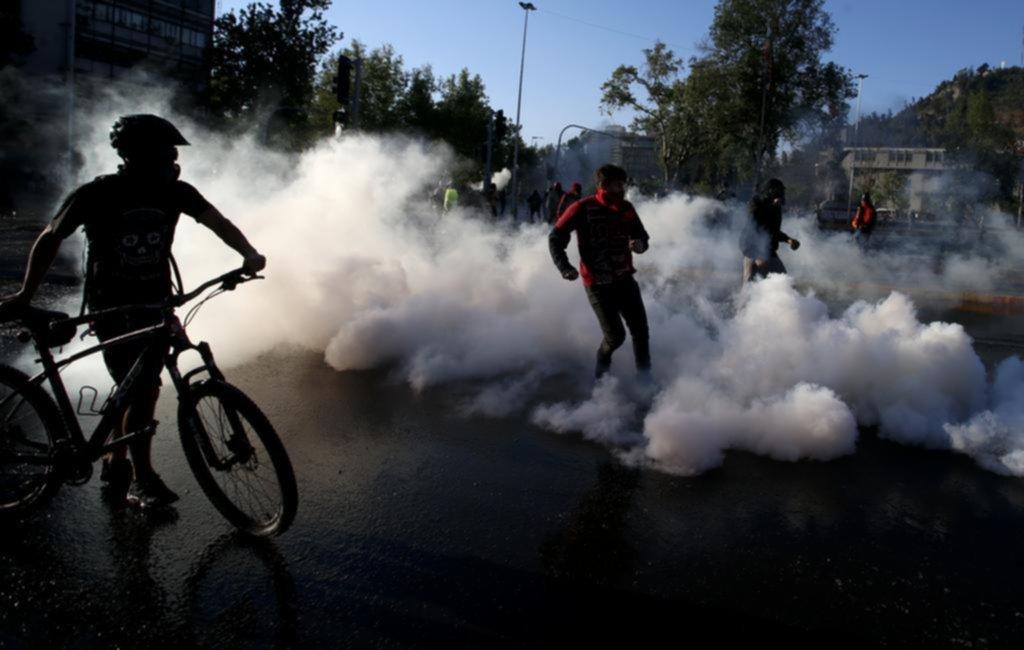 Hubo choques entre manifestantes y Carabineros
