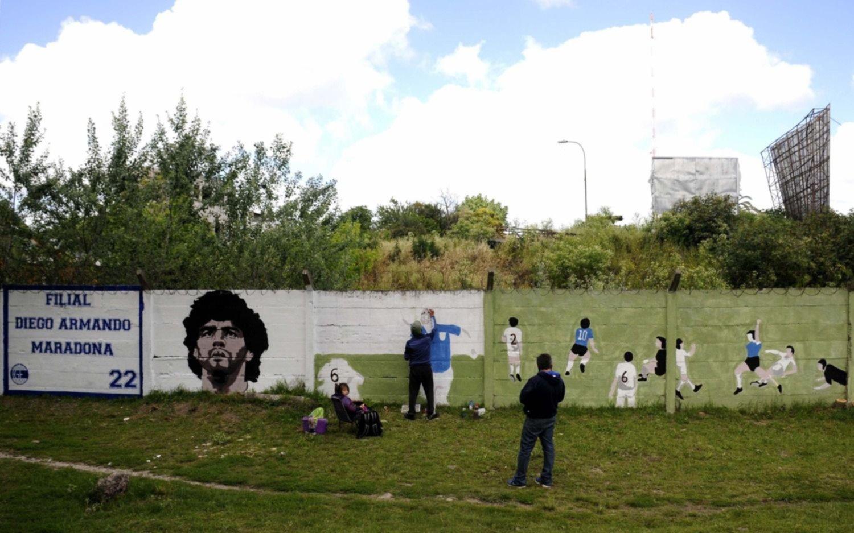 Mañana descubrirán un inmenso mural en homenaje a Diego