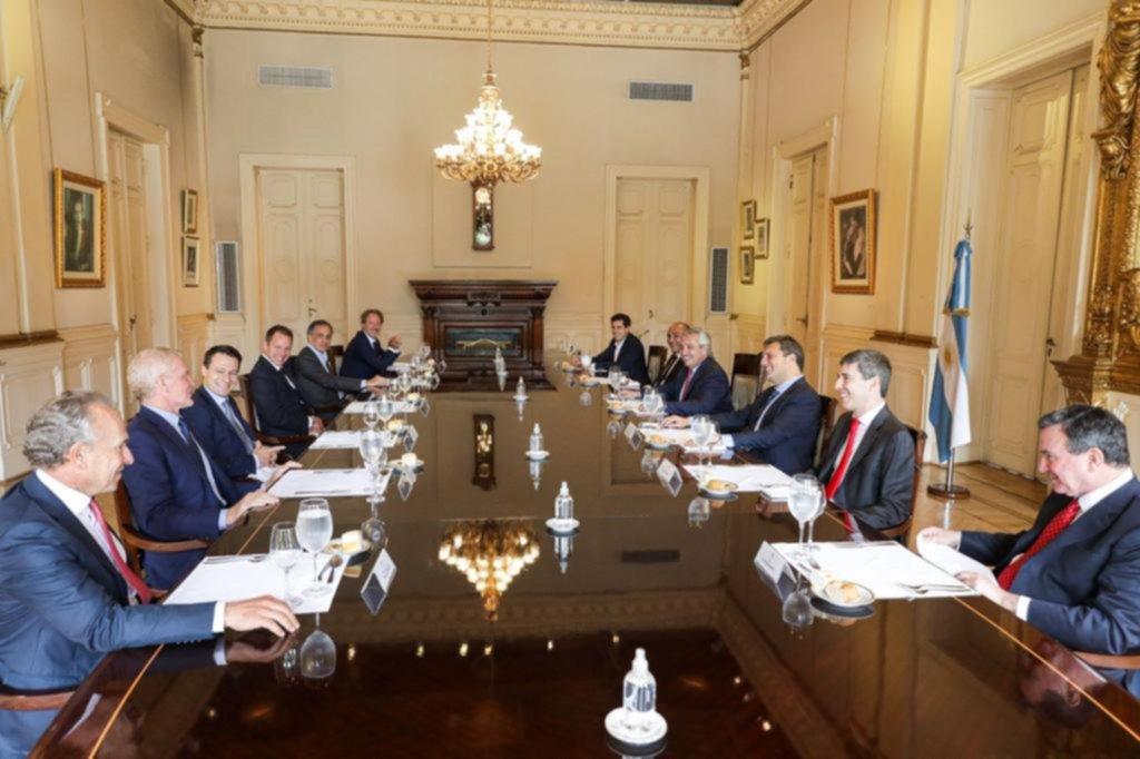 Sorpresivo almuerzo de Alberto con empresarios en la Casa Rosada