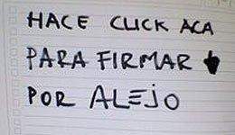 Las firmas por Alejo