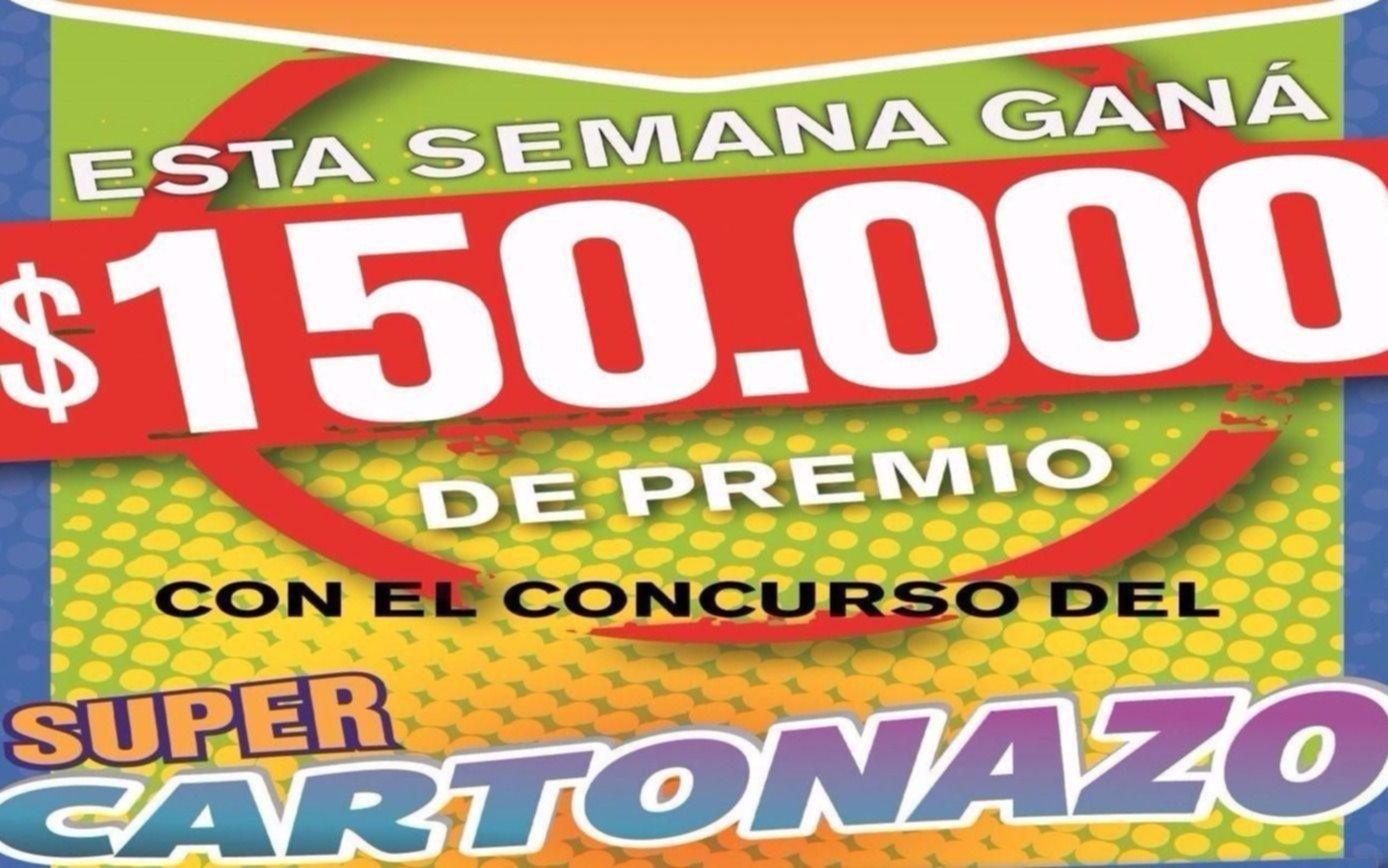 El Cartonazo quedó vacante y ahora el premio asciende a 150 mil pesos