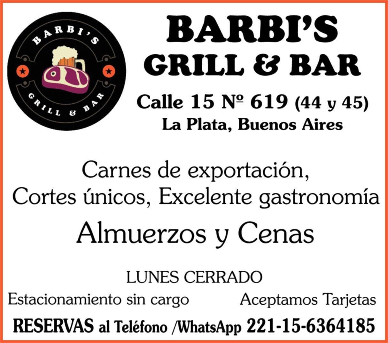 Disfrutá de una gran comida en Barbi's Grill & Bar