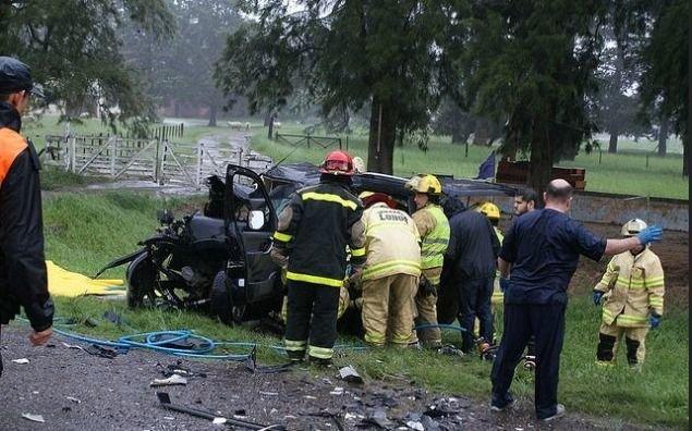 Trágico accidente en la Ruta 205: murieron cuatro hinchas de Boca