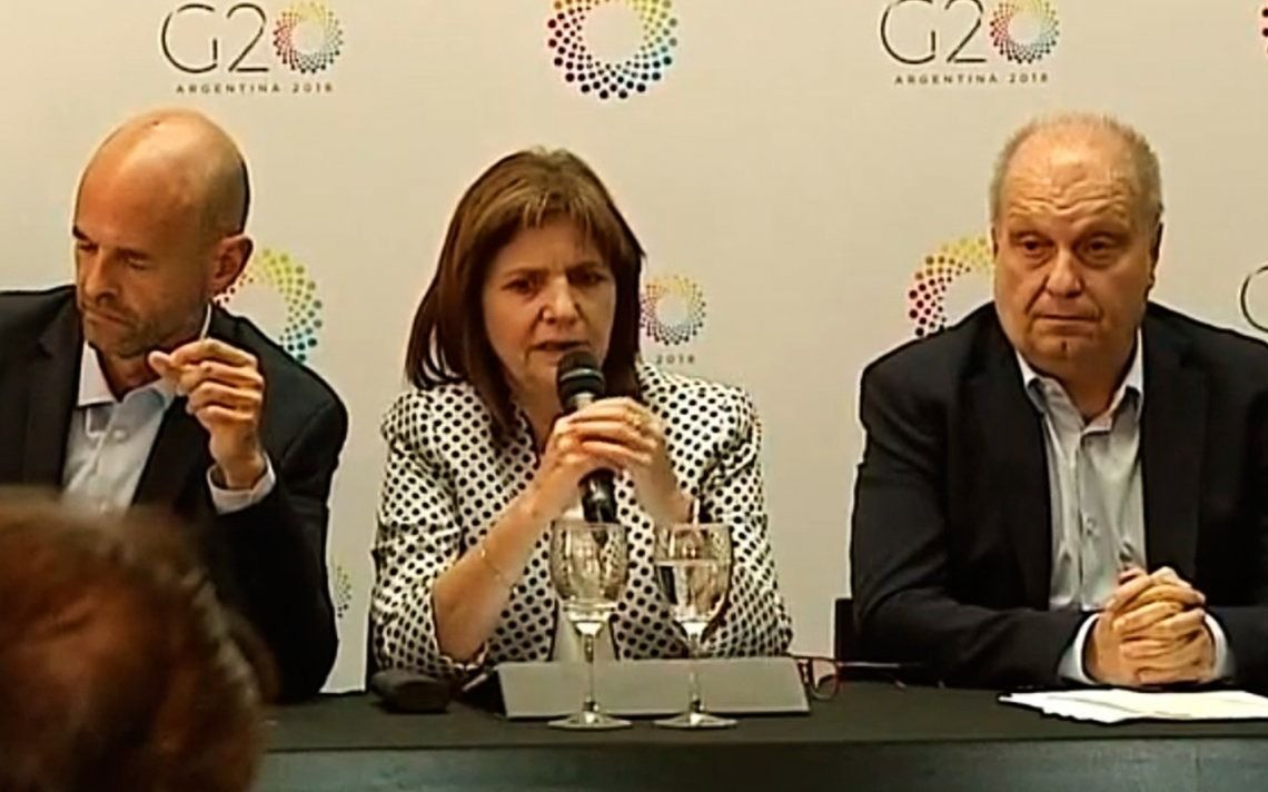 Bullrich presentó el megaoperativo de seguridad durante el G-20