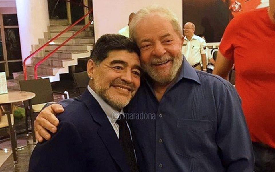El mensaje de Maradona tras la liberación de Lula da Silva