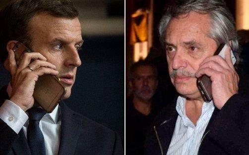 Los detalles del diálogo telefónico entre Alberto Fernández yEmmanuel Macron