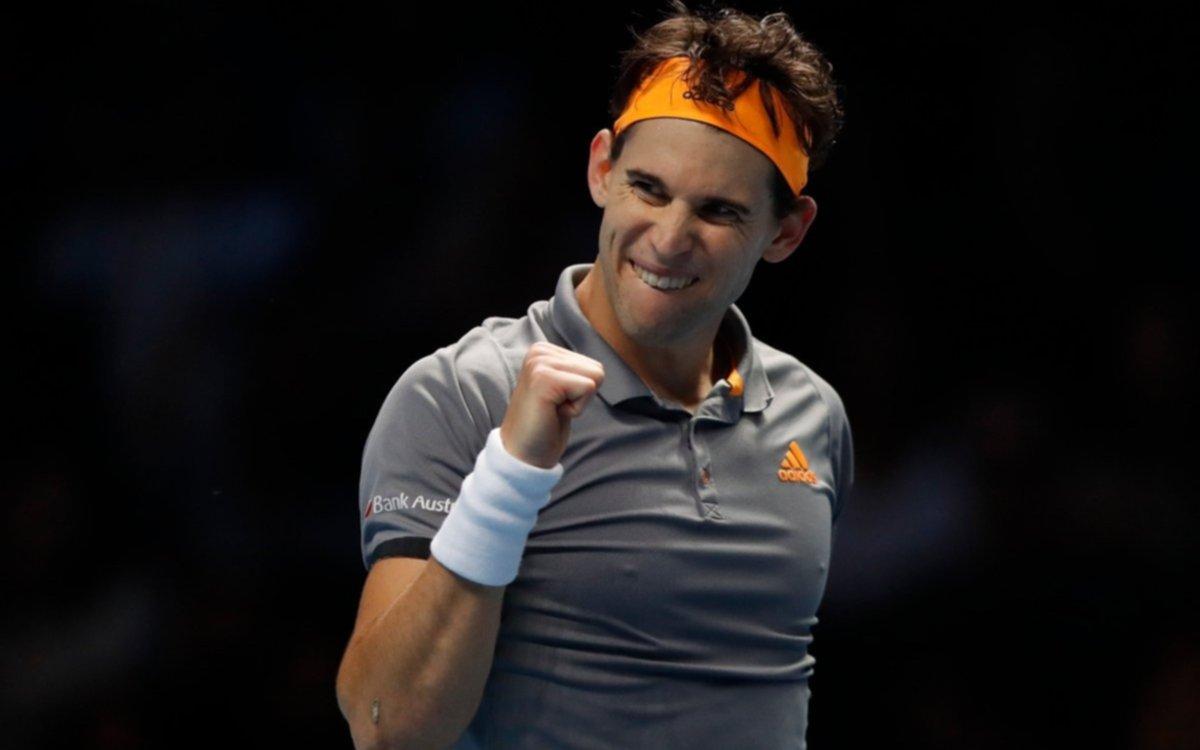 Thiem pasó a semifinales y Djokovic define su pase con Federer en el Masters de Londres