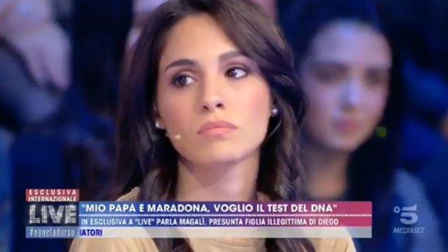 """""""Diego no sabía de mí"""": Magalí rompió el silencio en la TV italiana"""