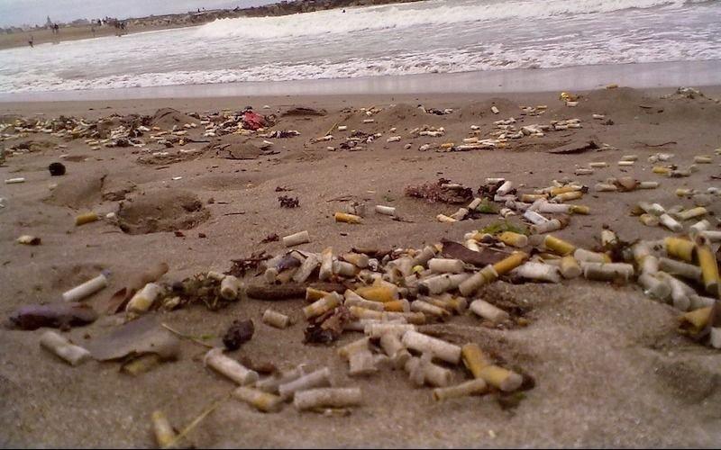 """Chau pucho en la arena de Pinamar: una ordenanza declara a las playas """"libre de humo"""""""