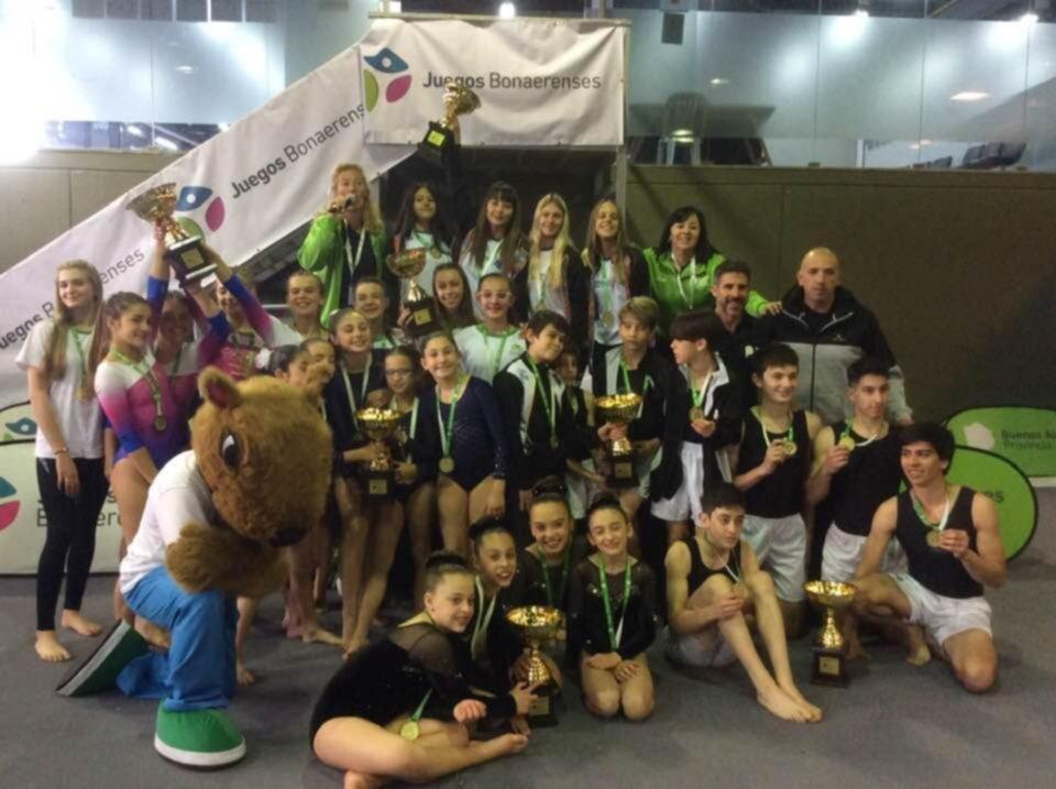Los gimnastas del Depo subieron a lo más alto del podio en los Bonaerenses