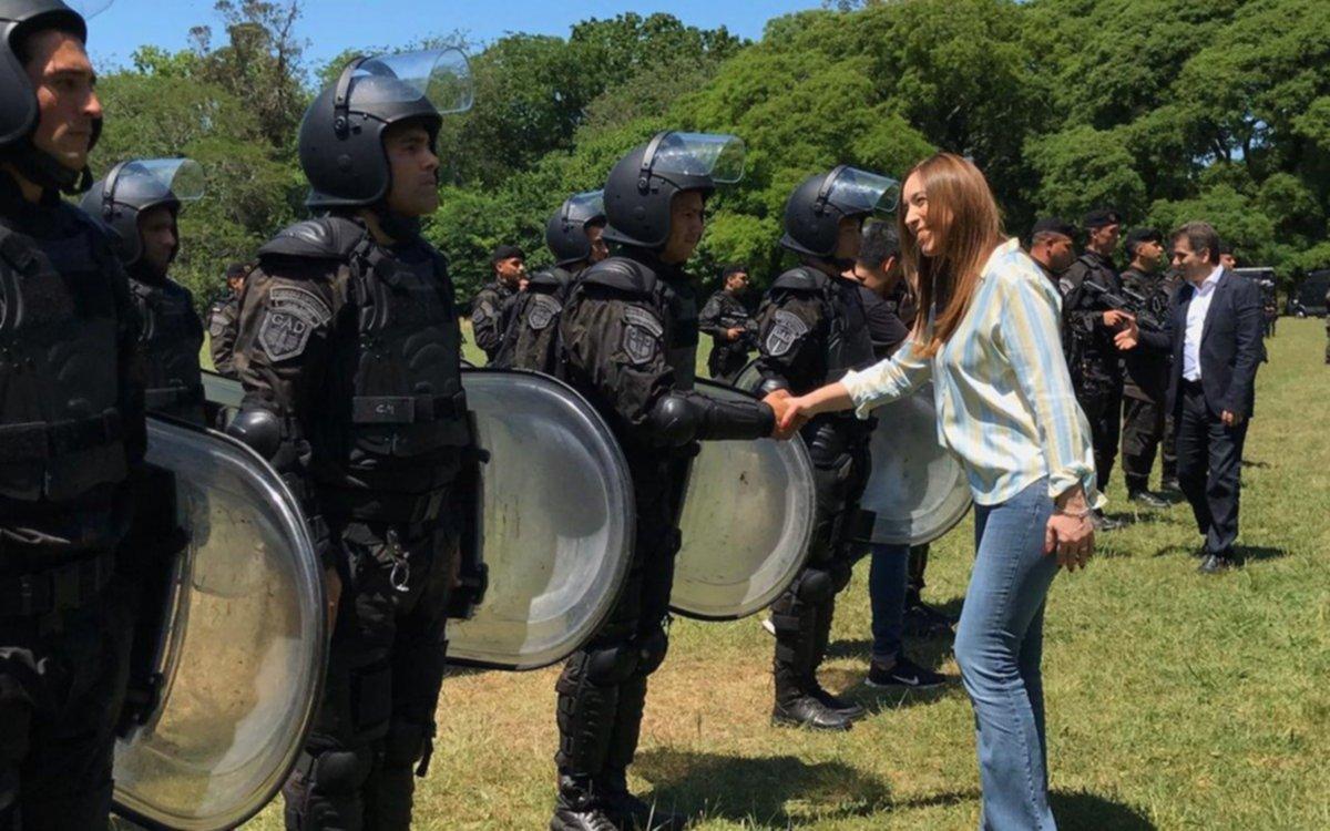 La gobernadora Vidal se reunió con grupos especiales de la policía bonaerense