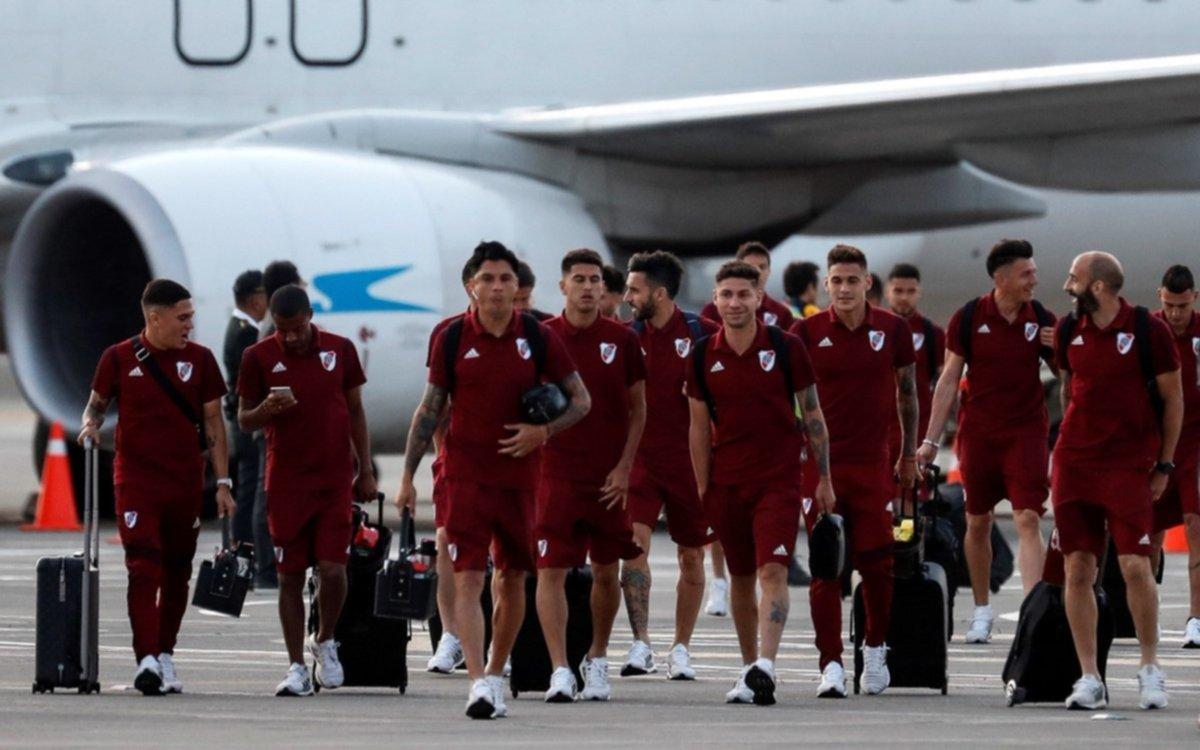 River llegó a Lima en busca de su quinta Copa Libertadores