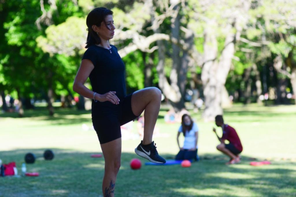 La Plata en imágenes: ejercicio con la energía del sol