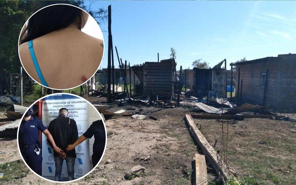 Intentó ahorcar a su expareja y le prendió fuego la casa en Etcheverry