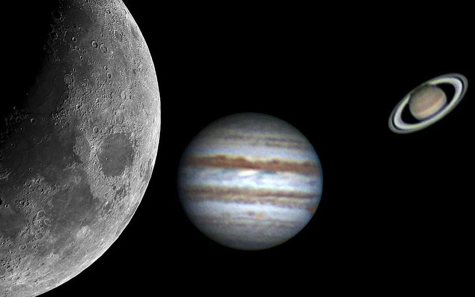 Fenómeno astronómico: Júpiter y Saturno se verán como un planeta doble